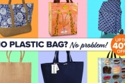 Leave Plastic Bags Behind w/ Up to 40% Off Totes & Shopper Bags! Shop the Westford Mill Organic Marina Tote, Floso Woven Floral Print Summer Bag & More