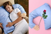 Feeling Lonely? Meet Your New Main Squeeze w/ the Boyfriend Pillow! Comforting, Supportive and Won't Hog the Blankets! Removable, Washable Cover