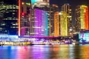 Experience Vivid 2017 the Luxurious Way w/ a 2.5-Hour Vivid Glass Boat Cruise by iToursntix! Ft. Beautiful Views & Buffet + Beer, Wine or Soft Drink