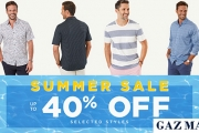 Gents, Stand Out from the Crowd w/ the GAZMAN Summer Sale! Shop Up to 40% Off Select Styles Incl. Polos, Shirts, Jackets, Accessories & More