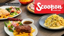 Savour a Good 'Ol Fashioned Feast w/ Mates w/ $60 to Spend on Food @ Georgie's Bistro at Sylvania Bowling Club! Grilled Salmon, Veal Parmigiana & More