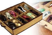 Missing Shoes No More! Keep Your Shoes Organised w/ this Under Bed Shoe Storage Unit. Protects Shoes from Dust, Saves Space, Perfect for Shoes Lovers
