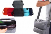 Keep All Your Travel Necessities Safely in One Place w/ this Multi-Compartment Travel Bag! Made from Water-Resistant Nylon Fibre in Range of Colours