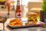 Head to Manly's First North American-Style Establishment, The Lumberjack Trading Co, for a Gourmet Burger & Chips Lunch w/ Beer, Wine or Soft Drink!