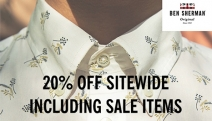 For the Latest Men's Casual & Formalwear, Shop 20% Off Sitewide at Ben Sherman! Includes Sale Items! Range of On-Trend Polos, Knitwear, Jackets & More