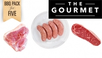 Feed a Hungry Party of 5 w/ a Premium Mixed Meat Pack, Incl. Grain Fed MSA Sirloin Steaks, 1kg Lamb Loin Chops & GF Lamb Rosemary Sausages. Plus P&H