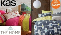 New Season, New Bedding! New KAS Quilt Cover Sets. Bold Prints & Vibrant Colours to Brighten Your Bed! All Sizes $29.99 - Single, Queen, King & More!