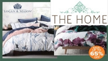 Snuggle Up with Up to 65% Off Logan & Mason Quilt Cover Sets! Shop the Refreshed New Range of Cool & Vibrant Designs for King & Queen Sets
