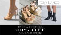 Step into Summer in Fabulous Footwear with an Extra 20% Off Tony Bianco Sale Items with Code: SALE20. Fashion Forward Heels, Mules, Flats & More