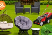 Spruce Up Your Outdoors w/ this Garden Oasis Collection! Shop Up to 70% Off the Hanging Swing Egg Chair Hammock, Synthetic Artificial Turf Flooring & More