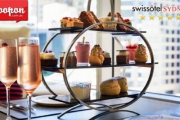 Indulge in a Lavish Weekday High Tea w/ Sparkling or Cocktails for 2 at the 5* Swissotel in the CBD! Vegetarian Frittata, Vanilla Éclair & More