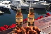 Delicious Buffalo Wings w/ Coronas or Wine at Marina Sunset Bar! Enjoy Waterfront Views at One of SA's Best Beaches on Glenelg's Marina Pier