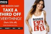 Super Comfortable & Built to Last, It's Australia's Fave Brand, Bonds! Shop the Bonds Mid-Season Sale & Take a Third Off Everything. Ends Sun