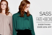 Add a Little Sass to Your Wardrobe w/ the Feminine & Flirty Clothing from Sass & Fate+Becker! Shop Midi Skirts, Dresses, Tops, Coats & More. Plus P&H
