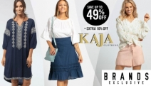 Your Spring Wardrobe Awaits! Save Up To 49% Off Kaja Clothing. Insprired by Purity & Simplicity You'll Feel Fab in These Outfits - Tunics, Tops & More
