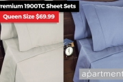 Lay Down in Pure Luxury w/ the Ultra Soft Apartmento 1900 Thread Count Sheet Set Sale! Available in a Range of Contemporary Colours & Sizes