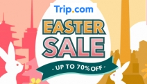 Easter is Just Around the Corner! Shop Up to 70% Off the Easter Sale @ Trip.com! Enjoy Further Savings on Hotels, Tours & More w/ Promo Codes