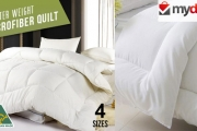 Enjoy a Comfortable Winter Slumber with an Australian Made Microfibre Winter Quilt Starting from Just $39! Comes in 4 Sizes, Machine Washable