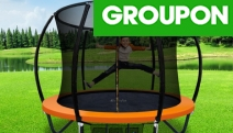 The Kids will Surely Flip Out w/ the Everfit 8ft Trampoline from $269! Spacious + Bounce & Water Resistant Ft. Enclosed Safety Net. Orange & Rainbow