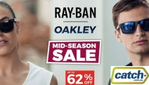 For the Coolest Shades in Town, Show the Ray-Ban & Oakley Mid-Season Sale! Ft. Up to 62% Off Range of Men's & Women's Sunnies to Suit Your Lifestyle
