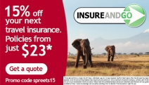 Last Chance! 15% Off Travel Insurance at InsureandGo! Overseas Medical Cover, Kids Go FREE w/ Mum or Dad, 24-Hr Emergency Assistance & More
