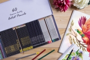 Unleash Your Inner Artist with 60 Artist Pencils in a Keepsake Tin! Set Incl. Metallic, Charcoal, Coloured & Watercolour Pencils Plus More