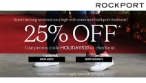 Rock Your Way this Season with the Rockport Storewide* Sale! Enjoy 25% Off w/ Code HOLIDAYS25. Ft. Styles for Men & Women Incl. Pumps, Boots & More