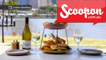 Savour Waterfront Dining w/ a Shared Seafood Platter for 2 @ River Quay Fish! Includes a Bottle of Sauvignon Blanc. Prawns, Oysters & More. South Bank