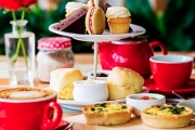 Enjoy a Deluxe High Tea for Two for Just $25 at Cakes by Judy C! Includes Quiches, Scones w/ Jam & Cream, Tea or Coffee Each & More