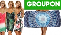 Enjoy Beach Season this Summer w/ Sand-Free Beach Towel Wraps! Ft. Cross-Over Wrap Style Cover-Up, Multi-Functional Design, Fast-Drying & Absorbent