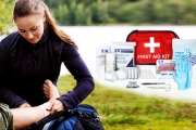 Be Ready For Any Emergency! Deluxe 113-Piece First Aid Kit Comes Packed w/ Everything You'll Need in a Sticky Situation: Bandages, CPR Mask & More