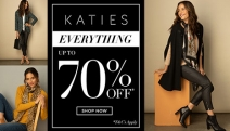 Need a Little Retail Therapy? Spruce Up Your Style & Get Up to 70% Off Everything at Katies! Plus P&H. Lightweight Layers, Cozy Pullovers & More
