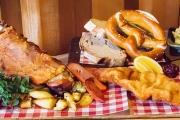 Take Your Tastebuds to Austria w/ a Shared Tasting Board & Beer at Bierkeller, Richmond! Incl. Schnitzel, Pork Hock, Knackwurst, Beer Pretzel & More