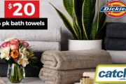 Wrap Yourself in this Special Buy & Restock Your Linen Supply for Less. 4 Pack Dickies Home Bath Towels for Just $20 - Available in 5 Colours!