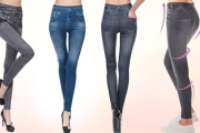 Don't Waste Time Squeezing Into Those Skinny Jeans, Try a Pair of High-Waisted Shape Enhancing Denim Detail Jeggings Instead! Three Colours