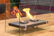 Spend Cold Nights Relaxing by the Warmth of an Eco-Friendly Bio-Ethanol Tabletop Fireplace! Compact Design, No Wood or Installation, No Smoke!