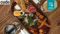 Delight in Waterfront Views & a Mouthwatering Share Board w/ Wine for 2-Ppl at BayBay's on Scarborough! Arancini, Smoked Salmon, Goat Cheese & More