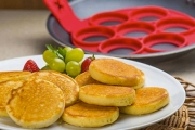 Take the Hassle & Mess Out of Breakfast Time w/ the Pancake & Omelette Maker! Makes 7 at a Time, Perfect for Pancakes, Omelettes & Hash Browns