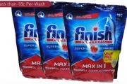 Stock Up with 330 Tabs of Finish Max-in-One Powerball Lemon Sparkle Dishwasher Tablets for Just $59! That's Less than 18 Cents Per Wash!