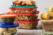 Throw Away Those Old Plastic Containers & Keep Your Food Fresh w/ Pyrex Glass Food Storage Sets. Oven, Microwave, Freezer & Dishwasher Safe