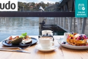 Nothing Beats Waterfront Dining in Mosman Wharf w/ an All-Day Brekkie or Lunch + Drinks @ Cafe Monstera! Waffles w/ Berries, Pork Belly Hotdog & More