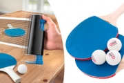 Convert Your Ordinary Table into a Ping Pong Table with the Portable Ping Pong Table Kit! Includes Net, Paddles, Balls & Convenient Carry Bag