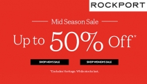 Smart Casual Has Never Felt So Good with the Rockport Mid-Season Sale! Enjoy Up to 50% Off Styles for Men & Women Incl. Boots, Sneakers & More