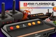 Relive Your Childhood w/ the ATARI Flashback® 6 Classic Game Console! Incl. 100 Built-in Games Incl. Faves Like Space Invaders, Hangman & Stacks More