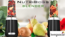Get Your Smoothie Fix w/ the Powerful 600 Watt NutriBoss 15-Piece Blender Kit! Make Healthy Smoothies, Nut Butter, Flours, Baby Food & More
