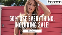 Get Festive Season Ready w/ 50% Off Everything at Boohoo! Including Sale Items! Shop On-Trend Dresses, Denim, Bodysuits, Playsuits & More. Ends Soon
