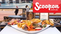 Dine in Style w/ a Harbourside Seafood Platter, Dessert, Cocktails & Bottle of Wine for 2 @ The Watershed Hotel! Fresh Prawns, Smoked Salmon + More