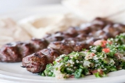 Head to the The Middle Feast for a Taste of the Middle East! 2 Mixed Lebanese Plates for 2 - Vege Incl. Haloumi or Meat Incl. Lamb, Chicken & More
