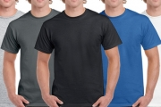 Fellas, Casual Dressing Made Easy w/ a 5-Pack of Gildan Heavy Cotton Classic Fit T-Shirts from Just $16! 100% Cotton for a Comfy Fit, 6 Colours