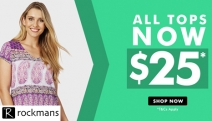 Rock a Fab, New Outfit w/ the Rockmans Sale! Shop a Range of Offers Incl. 50% Off Full-Priced Jewellery, $10 Sale Items, Discounted Tops & More